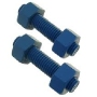 Blue Teflon Stud and Nuts